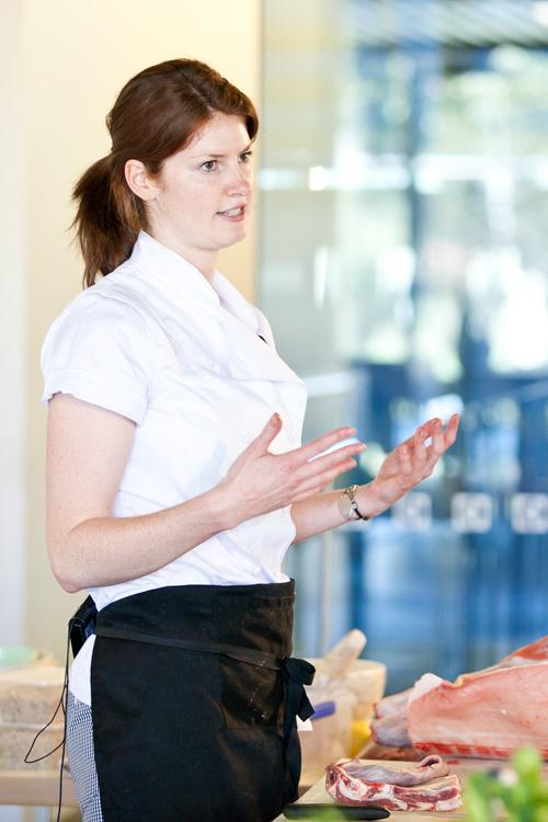 Nonie Dwyer presenting the EDB2011 lamb masterclass