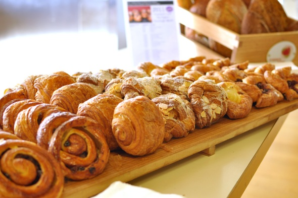 Breakfast pastries at EDB2011 courtesy of Brasserie Bread